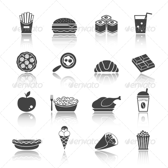 GraphicRiver Fast Food Icon Set 7763519