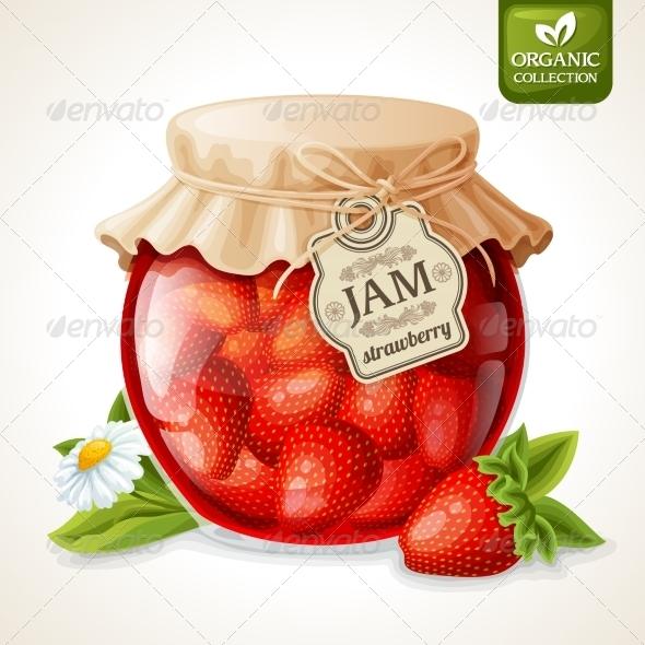 GraphicRiver Strawberry Jam in Glass 7763525