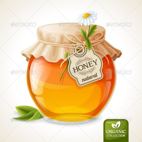 GraphicRiver Honey Jar Glass 7763533