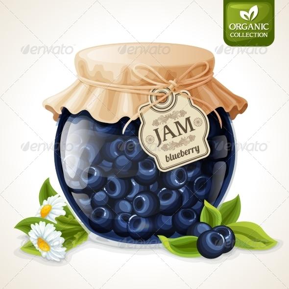 GraphicRiver Blueberry Jam Glass 7763535