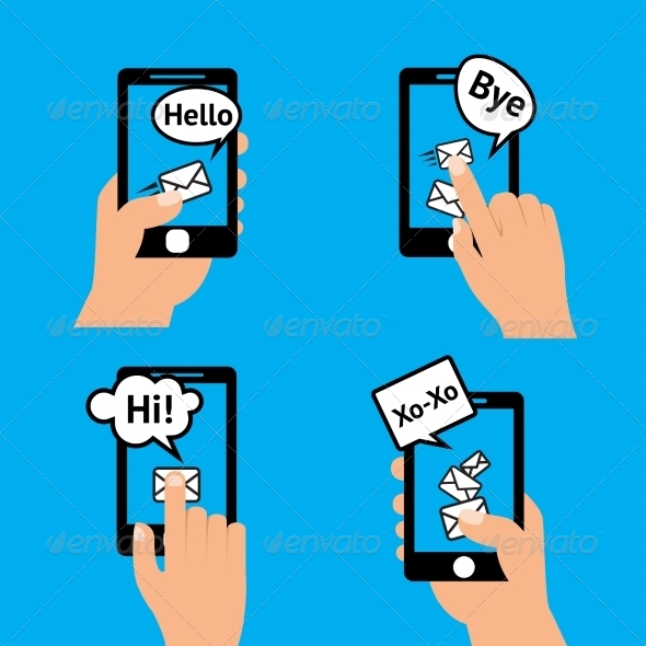 GraphicRiver Hand Smartphone Message 7763545