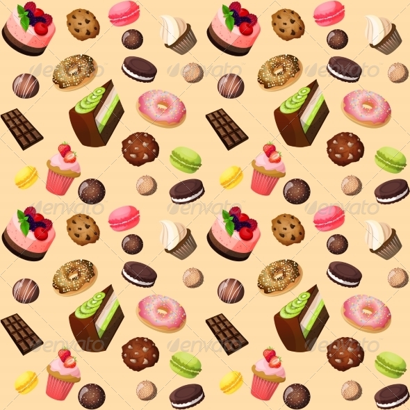 GraphicRiver Sweets Pattern 7763562