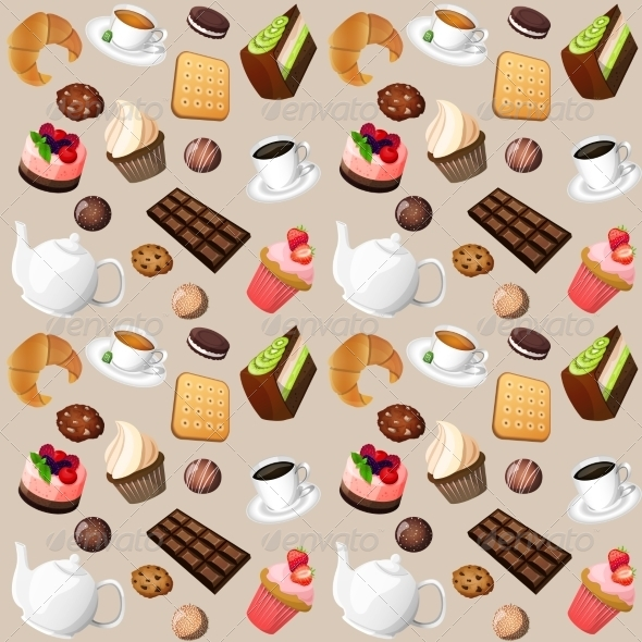 GraphicRiver Coffee and Sweets Background 7763566