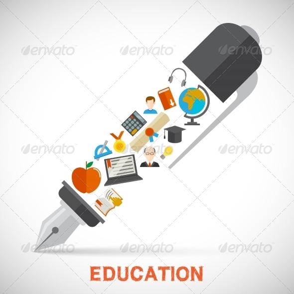 GraphicRiver Education Pen Concept 7763578