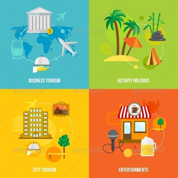 GraphicRiver Building Tourism Concepts Flat 7763581