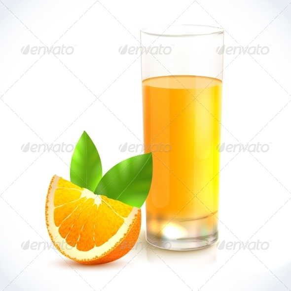 GraphicRiver Orange Juice in Glass 7763642