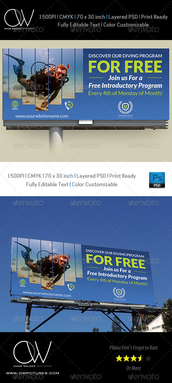GraphicRiver Diving Billboard Template 7763674