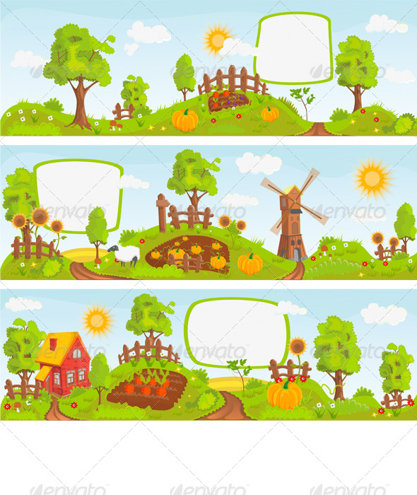 GraphicRiver Rural Landscapes 7763830