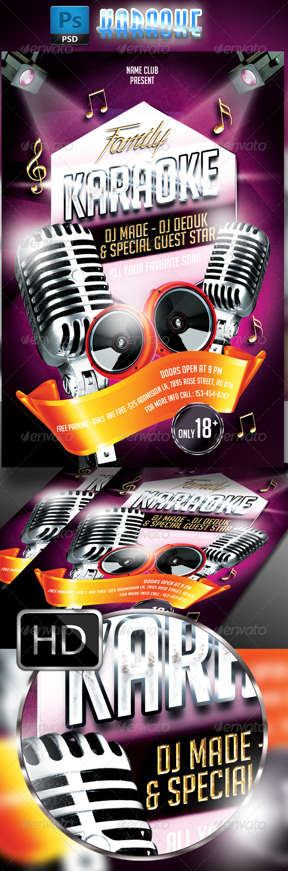 GraphicRiver Karaoke Flyer Template 7763861