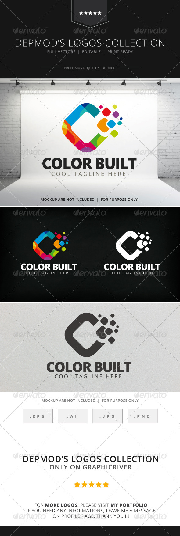 GraphicRiver Color Built Logo 7764089
