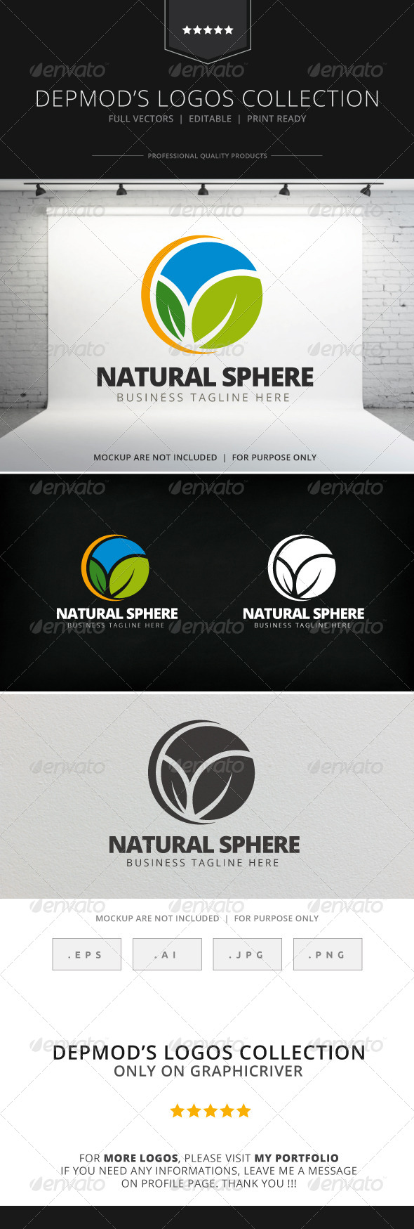 GraphicRiver Natural Sphere Logo 7764094