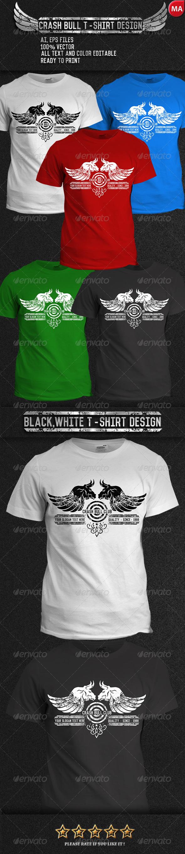 GraphicRiver Crash Bull T-Shirt 7764098