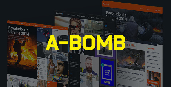 A-Bomb | News & Blog & Magazine Template - Miscellaneous PSD Templates