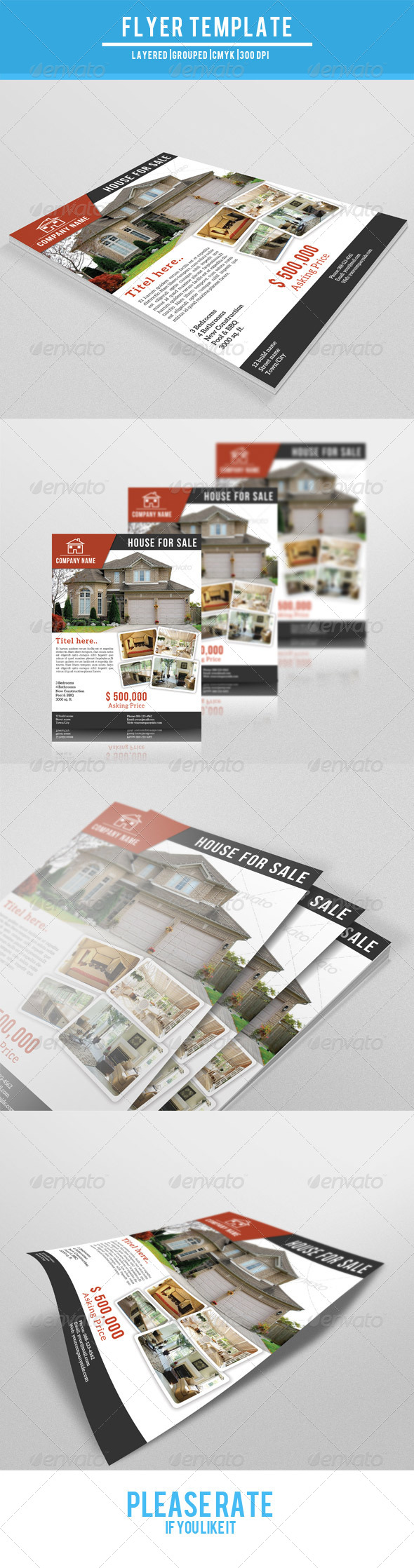 GraphicRiver Business Flyer-V08 7764213