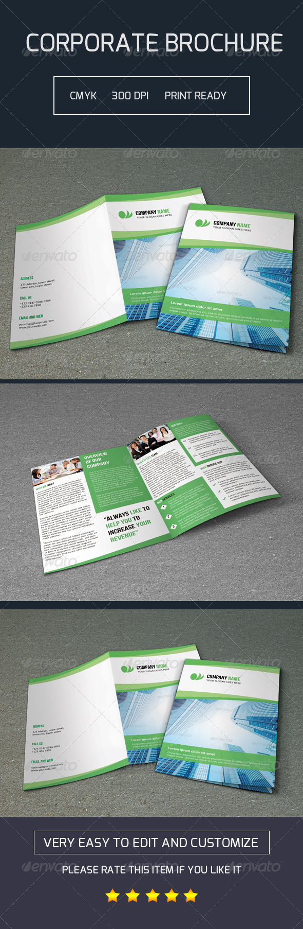 GraphicRiver Bifold Brochure-V03 7764346