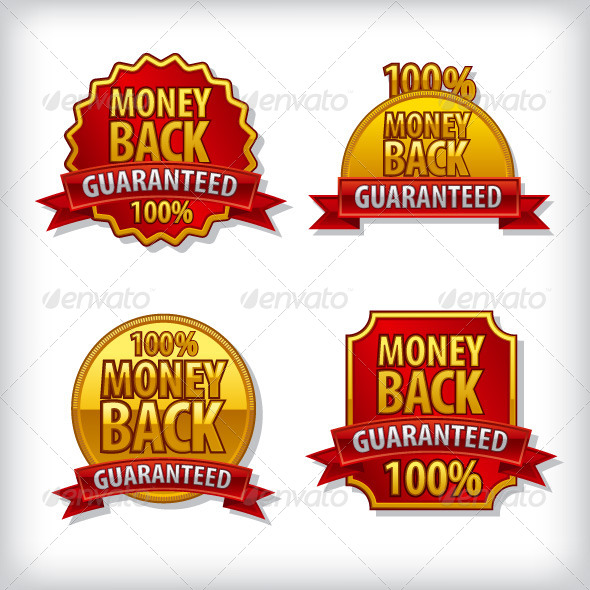 GraphicRiver Money Back Guaranteed Labels 7764358