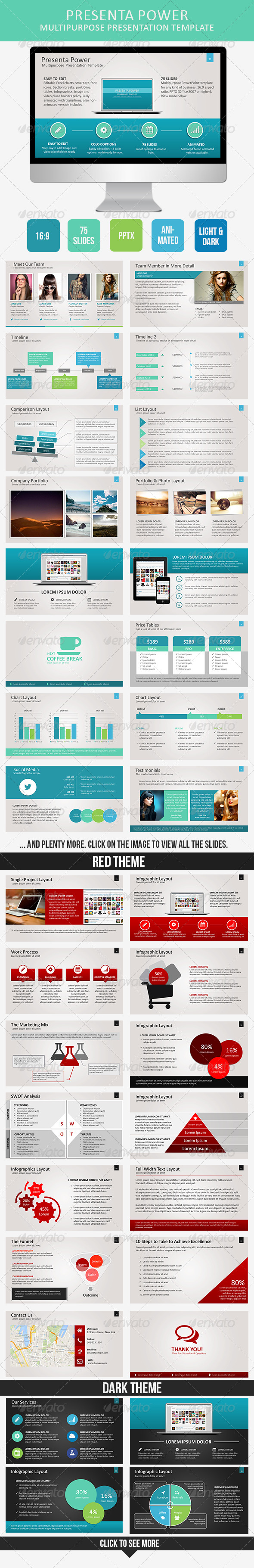 GraphicRiver Presenta Power PowerPoint Template 7764416