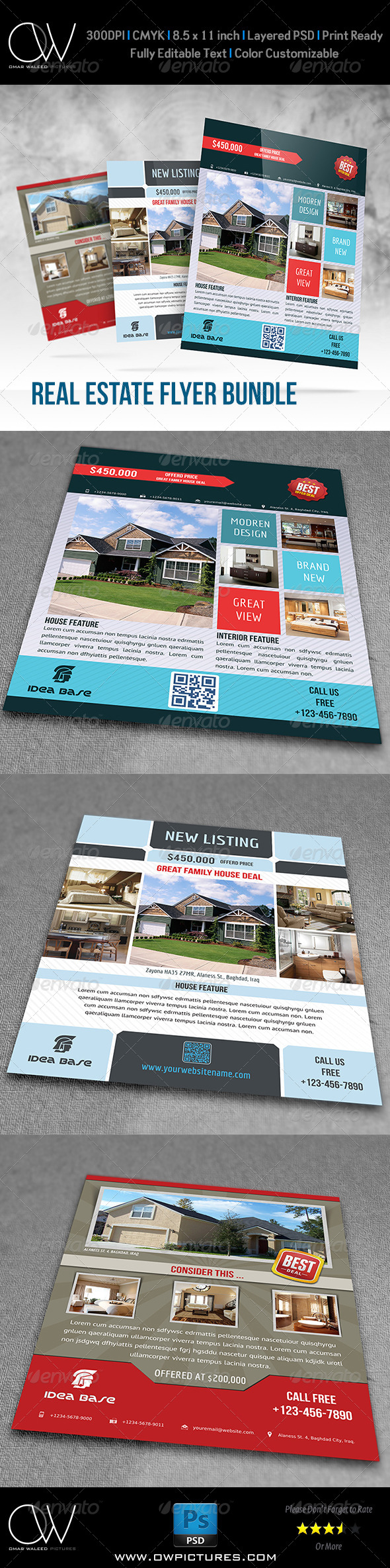 GraphicRiver Real Estate Flyer Bundle Template Vol.1 7764453