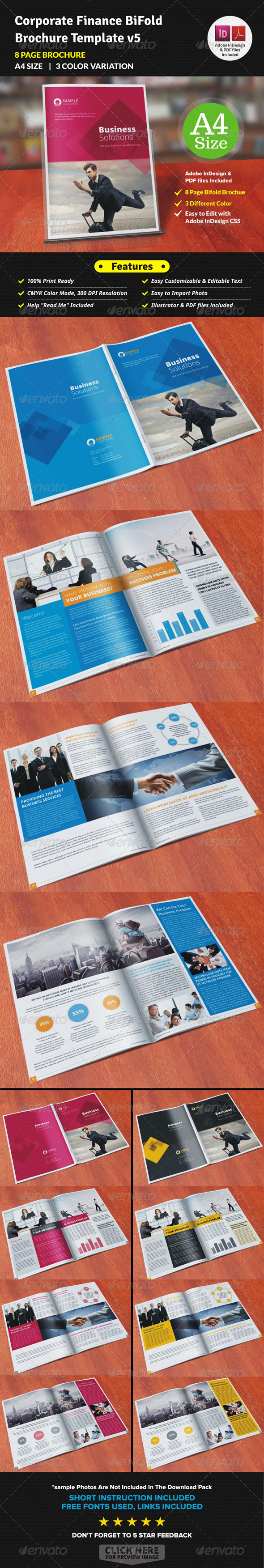 GraphicRiver Corporate Finance Bifold Brochure Template v5 7764473