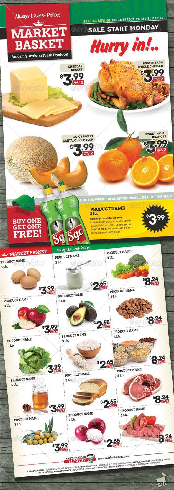 GraphicRiver Supermarket Sale Flyer 7739177