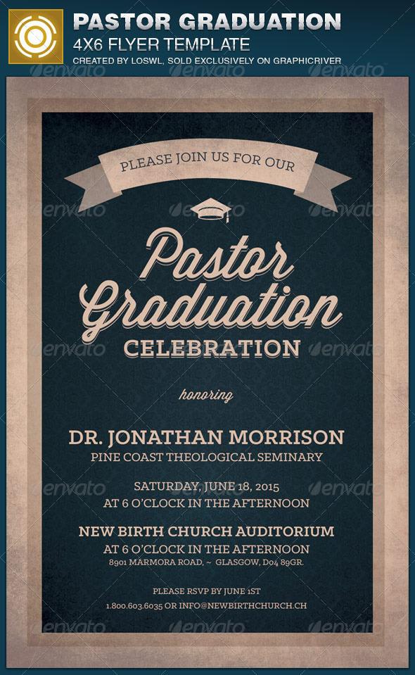 GraphicRiver Pastor Graduation Celebration Church Flyer 7764611