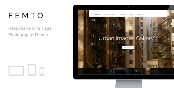 ThemeForest Femto Responsive One Page Photography Theme 7705806