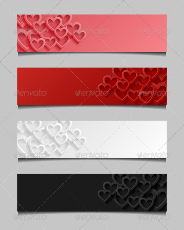 GraphicRiver Set of Abstract Valentine Banners 7764851