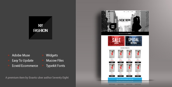 ThemeForest NY Fashion Shop Muse Template 7764918