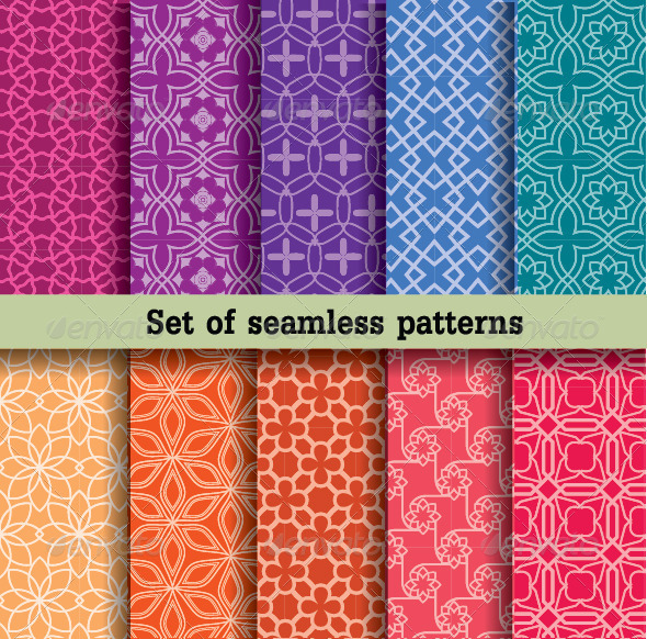 GraphicRiver Set of Seamless Patterns 7765043