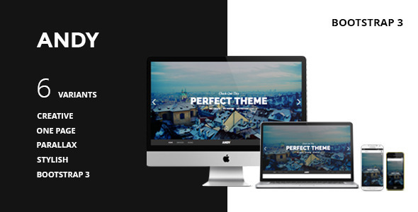 ANDY - One Page Responsive Parallax HTML5 - Portfolio Creative