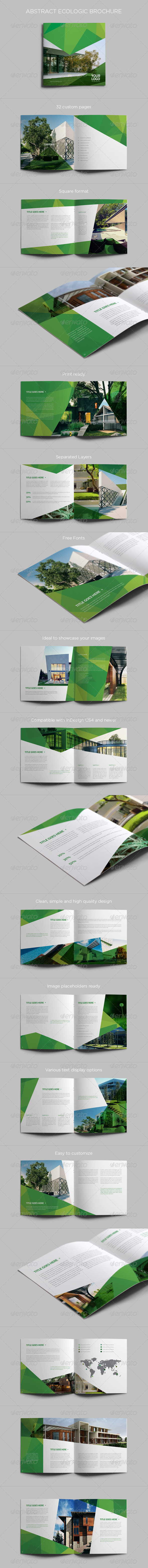 GraphicRiver Abstract Ecologic Brochure 7765796