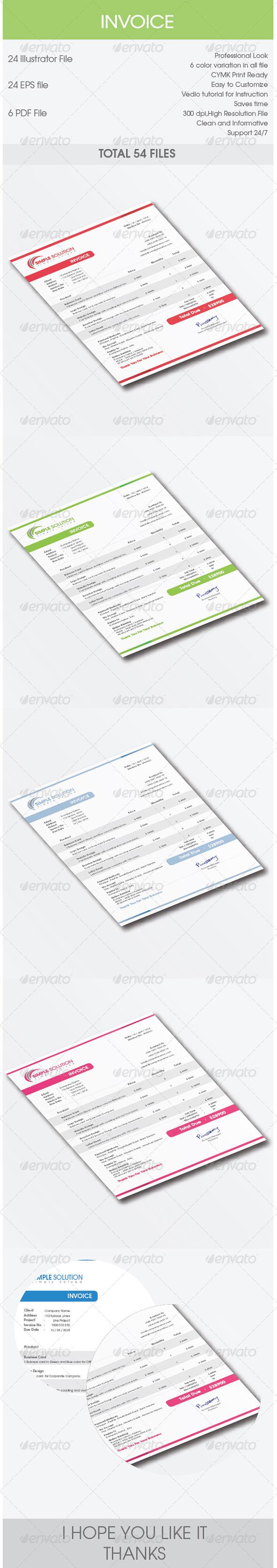 GraphicRiver Invoice Design 7650135