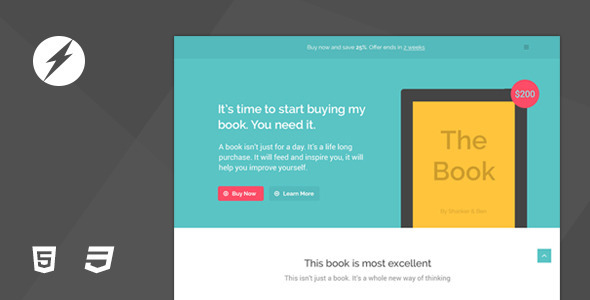 ThemeForest TheBook App eBook HTML5 & CSS3 Landing Page 7765931