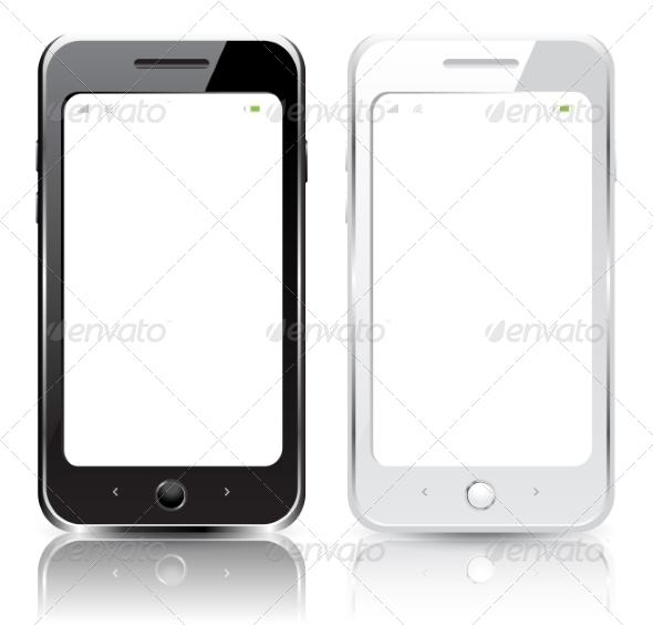 GraphicRiver Black and White Smartphones 7765993