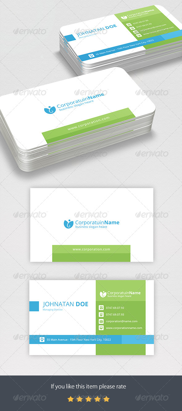 GraphicRiver Corporate Business Card 7766092