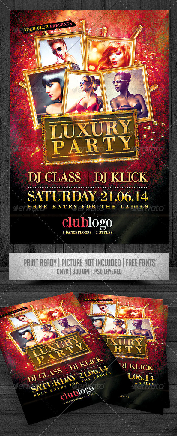 GraphicRiver Luxury Party Flyer 7766128