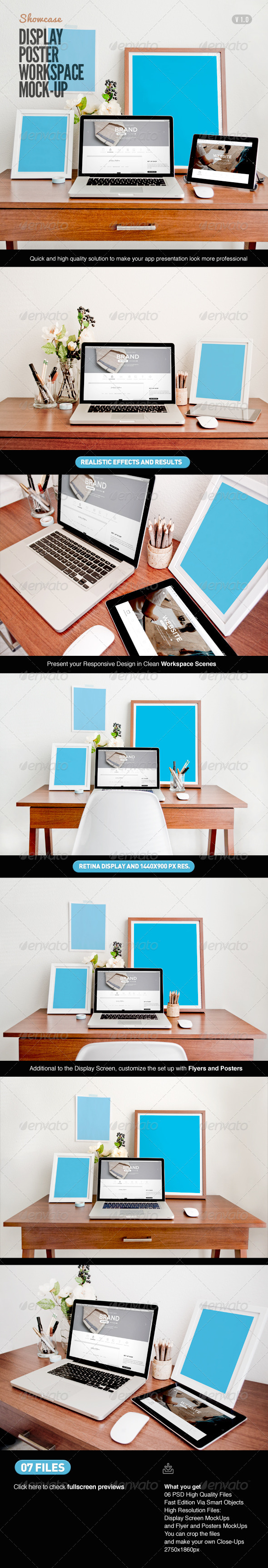 GraphicRiver Display Poster Workspace Mock-Up 7766138