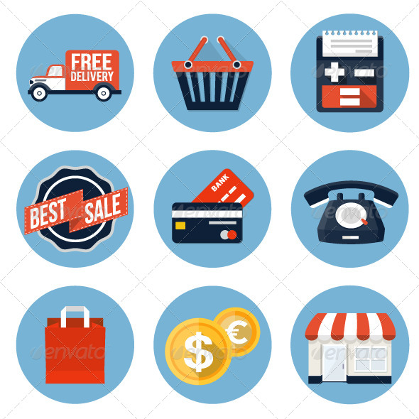 GraphicRiver Shopping Icons 7766145