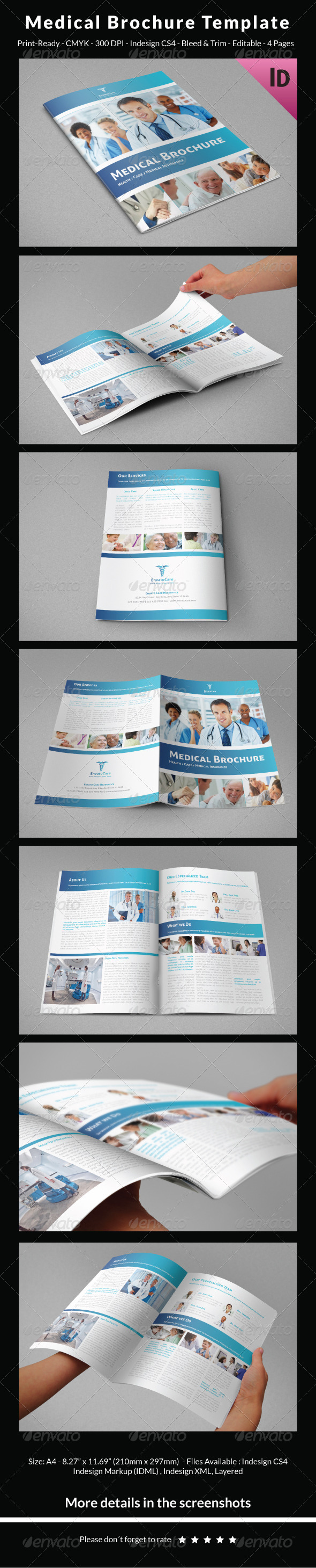 Healthcare medical pharma psd brochure templates for Medical brochure templates