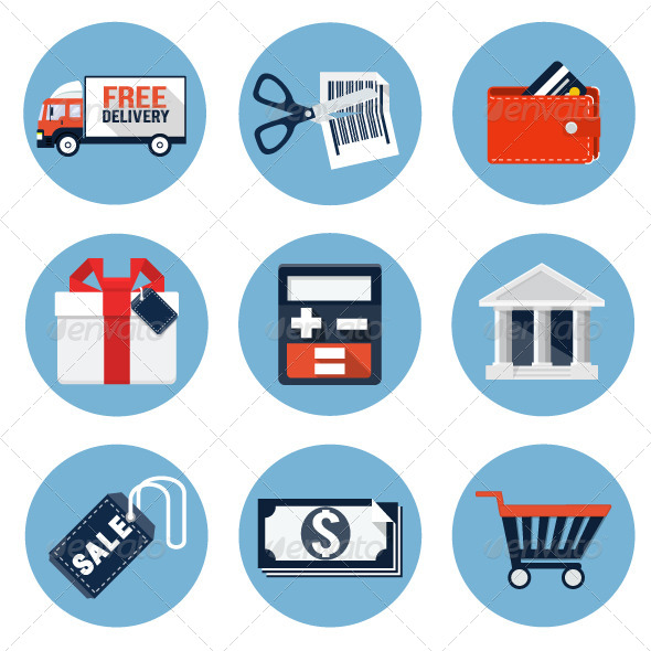 GraphicRiver Shopping Icons 7766168