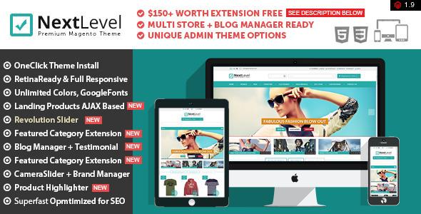 Nextlevel Responsive & Retina Ready Magento Theme - Magento eCommerce