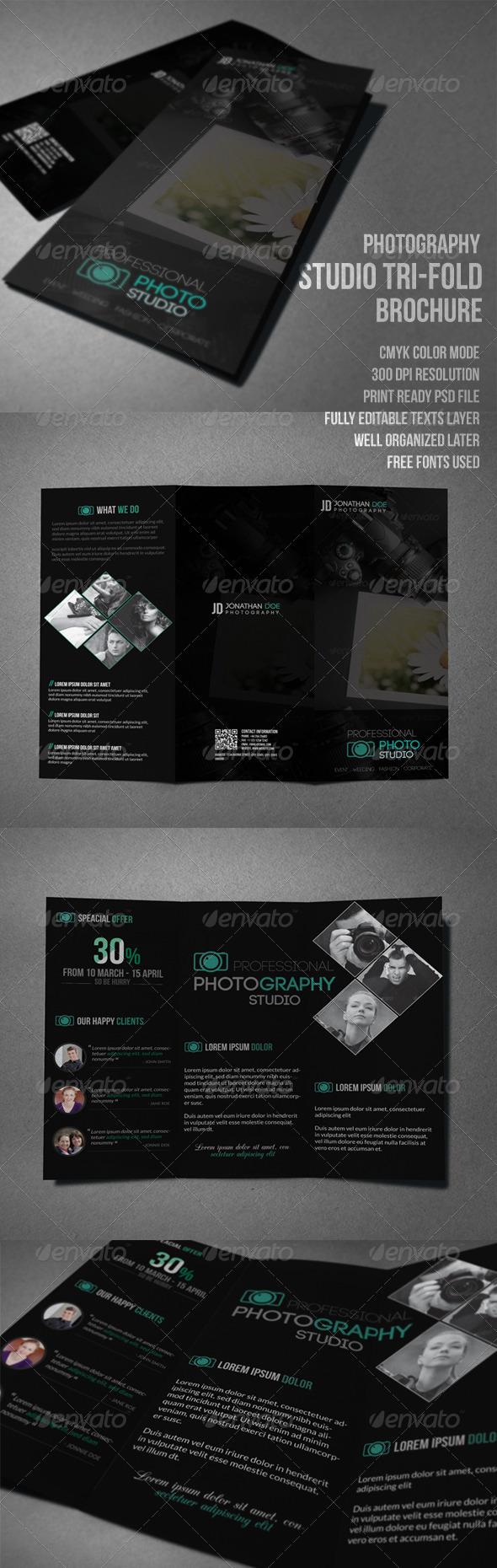 GraphicRiver Photography Studio Tri-Fold Brochure 7749246