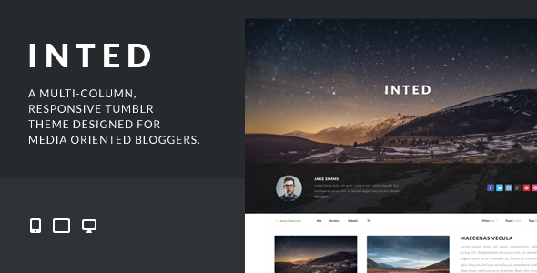 ThemeForest Inted Multi-column Responsive Tumblr Theme 7285070