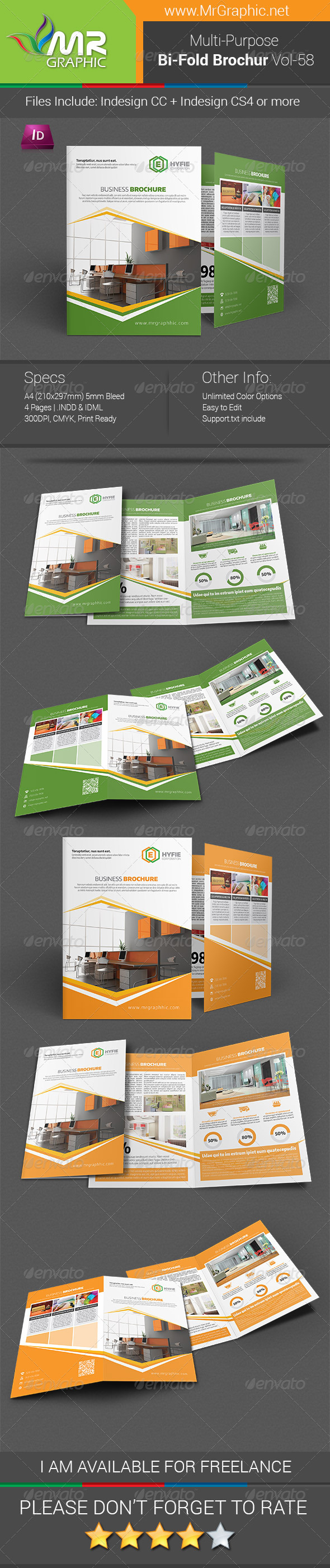 GraphicRiver Multipurpose Bifold Brochure Template Vol-58 7766629