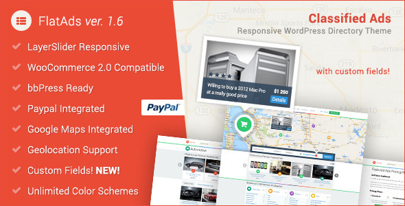FlatAds - Classified AdsWordPress Theme - Directory & Listings Corporate