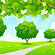 Green Landscape with  Trees - GraphicRiver Item for Sale