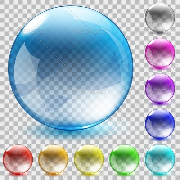 GraphicRiver Multicolored Transparent Glass Spheres 7767310