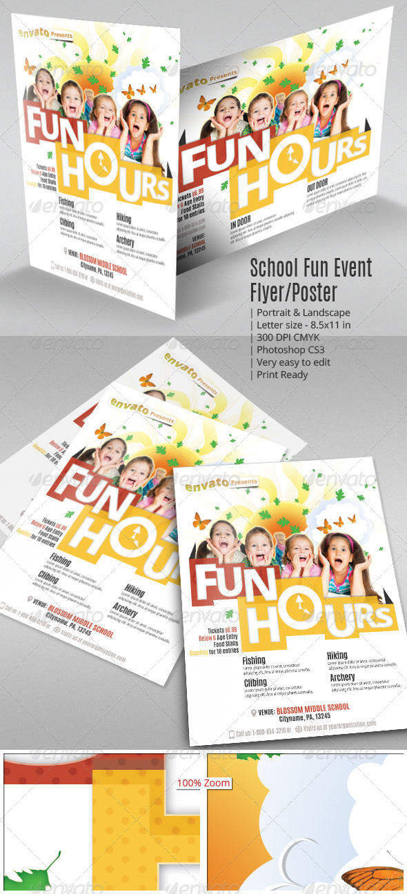 GraphicRiver School Fun Event Flyer or Poster 7767466