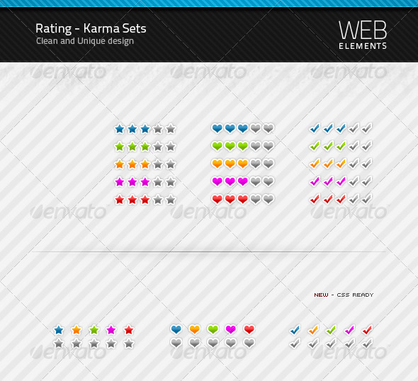 Rating / Karma sets - Miscellaneous Web Elements