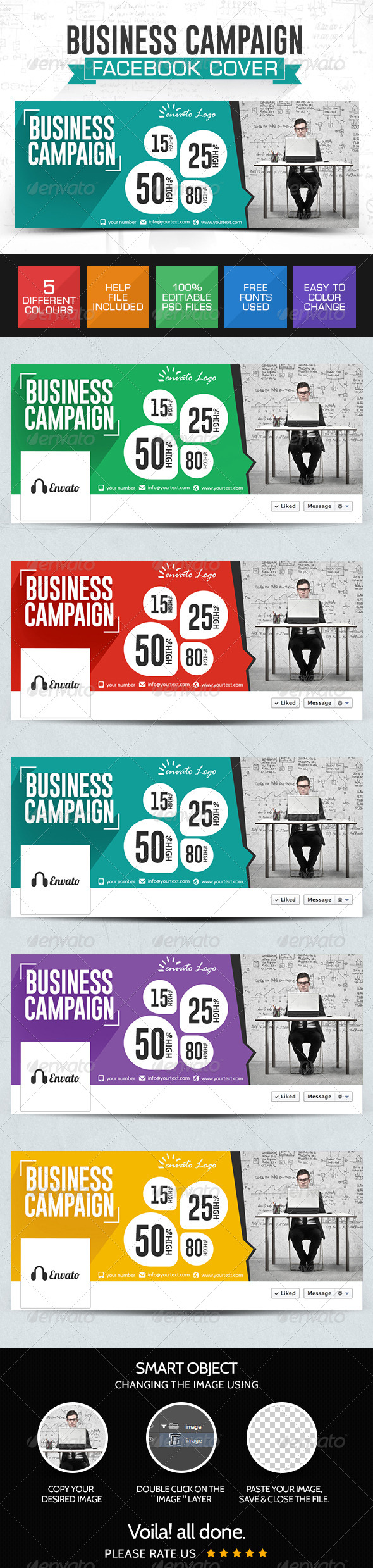 GraphicRiver Business Campaign Facebook Cover 7767699